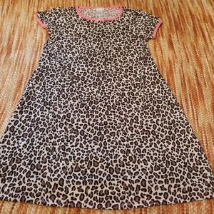Girls 14 tcp cheetah nightgown pjs